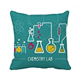 Chemical Reaction Tool Chemistry Square Throw Pillow Insert Cushion Cover Home Sofa Decor Gift