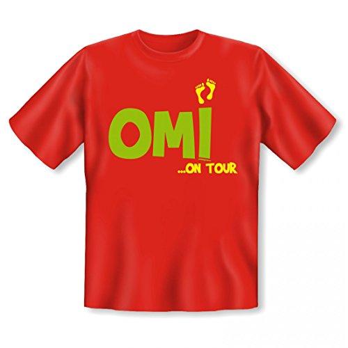 T-Shirt für die Großmutter - Omi on Tour - lustiges Geschenk zum Muttertag mit Gratis Urkunde als Zertifikat