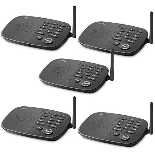 Wireless Intercom System Hosmart 1/2 Mile Long Range 10-Channel Security Wireless Intercom System...