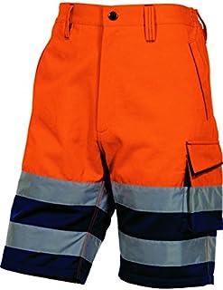 Delta plus Panoply PHBER - Pantalones Cortos de Alta Visibilidad para Hombre