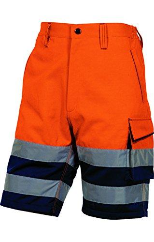 TALLA XXL. Delta plus Panoply PHBER - Pantalones Cortos de Alta Visibilidad para Hombre