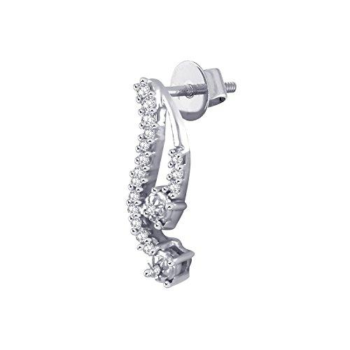 Giantti 14carats Diamant pour femme Dangler Boucles d'oreilles (0.2116CT, VS/Si-clarity, Gh-colour)