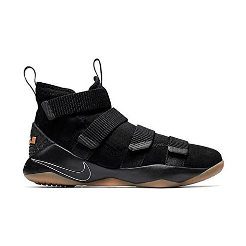Nike Lebron Soldier Xi Basketball Shoes Lebron James Black/Black-Gum Light Brown New 897644-007 - - Shoes Basketball Kobe Men