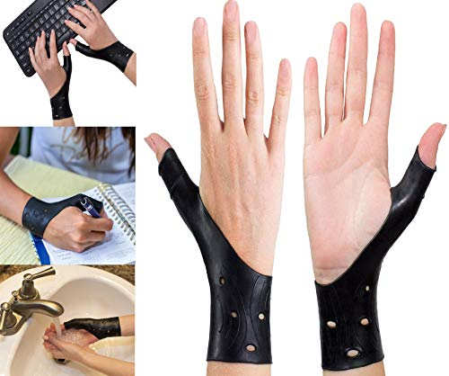 EXCELYFE Breathable Gel Wrist and Thumb Support Stabilizer Braces for Right and Left Hand | Wraps Relieve Pain Including Arthritis, Rheumatism, Carpal Tunnel | Also Great Protector When Playing Sports (Thumb Joint Support)