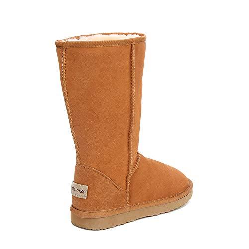 Ubeauty En Antidérapant Classique jaune De Boots Cuir Bottine Imperméables Bottes Femmes Neige rq78YrRf