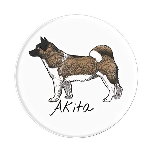 akita inu japanese dog gifts for men women PopSockets Grip and Stand for Phones and Tablets 3
