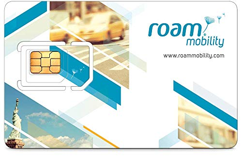 (Roam Mobility USA Travel SIM Card for Unlimited Talk & Text + 4G LTE Roaming)