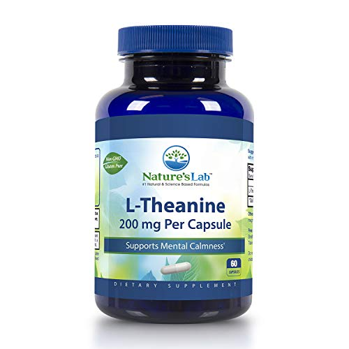 L-Theanine - 200mg - 60 Capsules Mental Calmness, Relaxation, Healthy Brain Function, Anti Anxiety, Restful Sleep