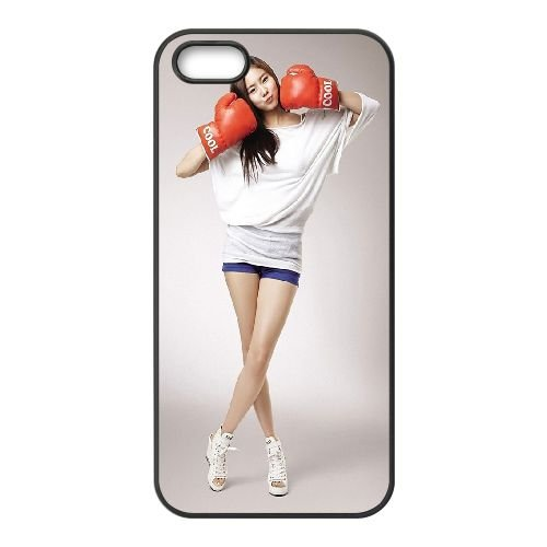 Girl Asian Boxing coque iPhone 4 4S cellulaire cas coque de téléphone cas téléphone cellulaire noir couvercle EEEXLKNBC25271