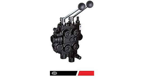 1500 PSI @ 12 GPM Spring Center with Float Detent RD2500 Series Work Port: 1//2 NPT Joystick Handle : 1 Spool Out Port: 3//4 NPT Motor Spool Prince Directional Control Valves 4 Way 3 Pos