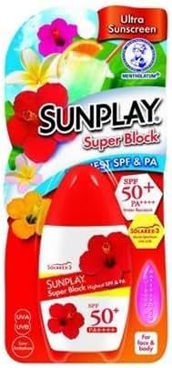 Mentholatum Sunplay Super Block SPF 50+ PA+++ Sunscreen Lotion 35 g.