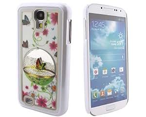 BONAMART TM White SWAROVSKI Element Flowers Rhinestone Crystal Hard Case Cover Skin For Samsung Galaxy S4 SIV S 4 IV i9500