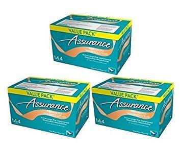 Assurance Premium Washcloths Value Pack 144 Count Carton (3-Carton Multipack 432 Washcloths Total)