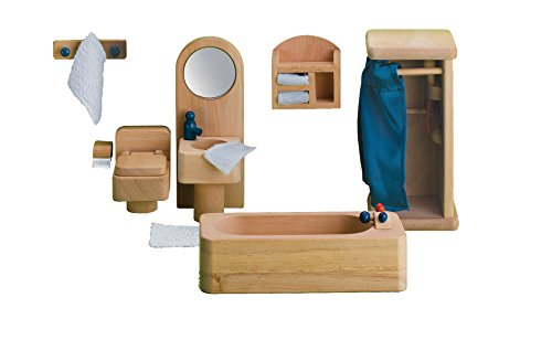 Small World Toys Ryan's Room Wooden Dollhouse - Bathtime and Bubbles Bathroom
