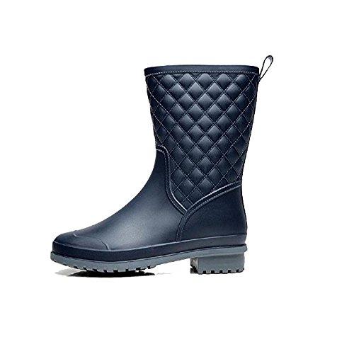 botas damas de antideslizante blue lluvia Moda zvqEw1w