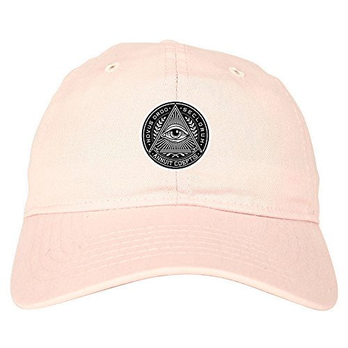 ce7de51f Kings Of NY Illuminati Eye Triangle Dad Hat 6 Panel Baseball Cap Pink
