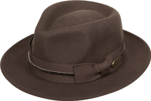 Wool Stripe Fedora Hat - 6