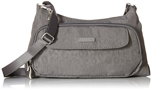 Bagg Cross Purse Body (Baggallini Everyday Crossbody Bagg, Pewter/Che, One Size)