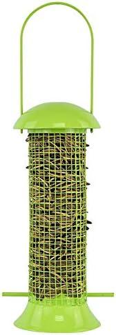 バードフィーダー 屋外バルコニーパークピジョン鳥フルーツグリーングリッドバードフィーダーペイント 屋外デザイン (Color : Multi-colored, Size : Free size)