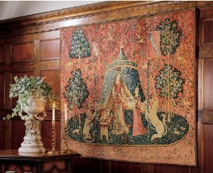 55'' French Mon Seul Desir Tapestry Wall Hanging Display by XoticBrands