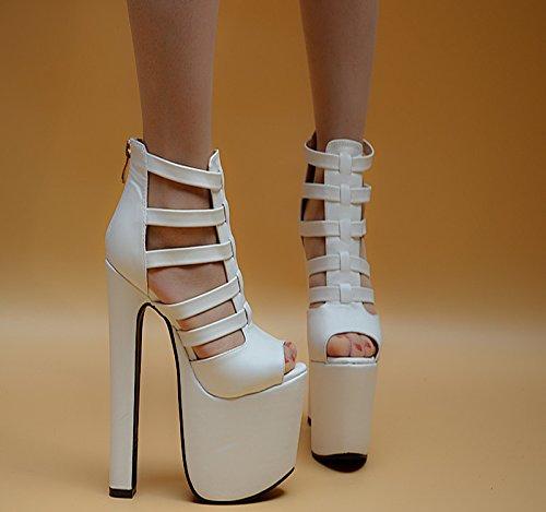 XiaoGao de 998 de super cm 12 noche tienda blanco de sandalias de 18 damas tacon zapato OzIrqxOwE