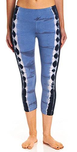 Hard Tail Flat Waist Capri Legging, Electric Side Stripe ...