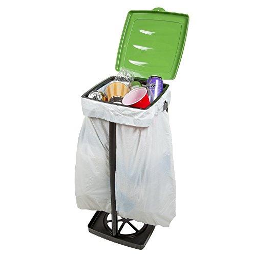 wakeman outdoors portable garbage trash bag holder green new ebay. Black Bedroom Furniture Sets. Home Design Ideas