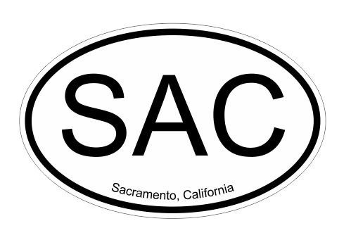 SAC Sacramento California Vinyl Decal Sticker