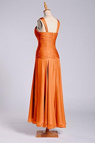 Chiffon Tangerine Adorona s Women Dresses Length Line a Tea OUn4BqRTw