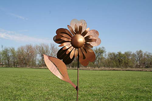 Large Metal Sunflower Garden Stake
