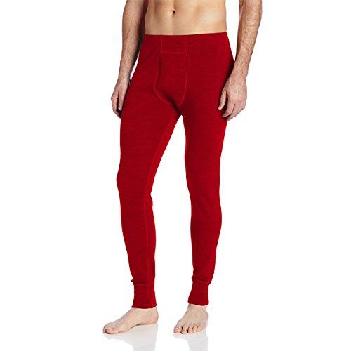 Lightweight Wool Pants - Minus33 Merino Wool Men's Kancamagus Midweight Bottom, True Red, X-Large
