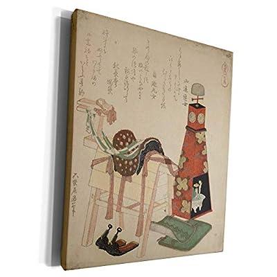 3dRose Florene Hokusai Japanese Art - Image of Hokusai Woodcut Wooden Horse And Saddle Painting - Museum Grade Canvas Wrap (cw_252680)