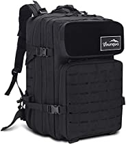 Youngoa Military Tactical Backpack for Men, 3 Day Assault Pack with Army Molle System,48L Large Waterproof Hea