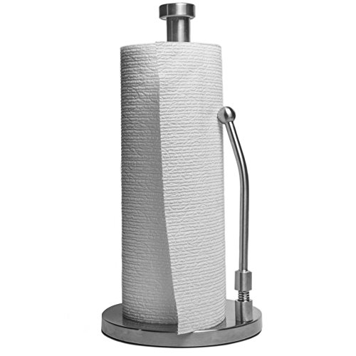Paper Towel HolderSilver Nickel Chrome For Kitchen Countertop