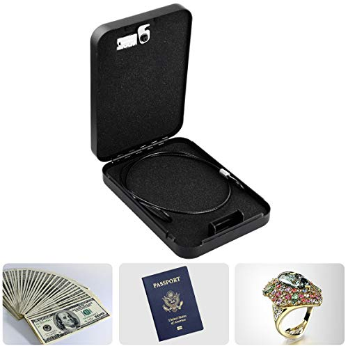 Hatori Handgun Safe Case, Metal Portable Pistol Rifle Gun Cabinet Lock Box Steel 3 Digital Combination Concealed Firearm Storage Car Safety Locker with Security Cable