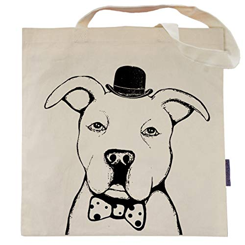 (Checkers the Pit Bull Tote Bag by Pet Studio Art)