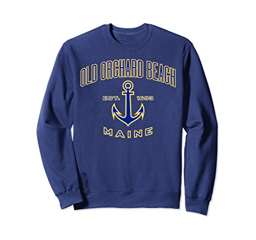 Old Navy Womens Pullover (Unisex Old Orchard Beach ME Sweatshirt for Women & Men Small Navy)