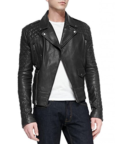 Chaqueta Para Negro Junction Hombre Leather XqwF5Ex