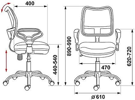 HYPE Chairs B/ürost/ühl CH-799SL schwarz 928294