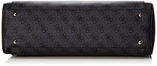 Guess - Christy, Bolsos de mano Mujer, Multicolore (Coal), 12x23.5x30 cm (W x H L)