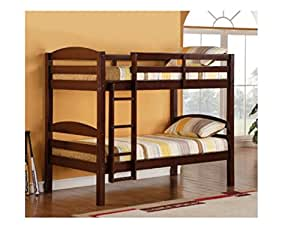 Bunk Beds Twin Over Twin Kids Furniture Bedroom Sets Solid Hardwood With Built In