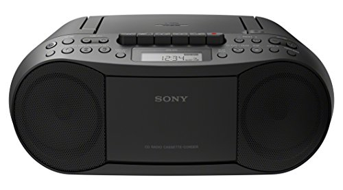 Sony Stereo CD/Cassette Boombox Home Audio Radio, Black (CFDS70BLK) ()