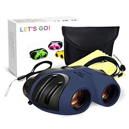 LETS GO! Boys Toys Age 3-12, DIMY Spotting Binoculars for Children Boys New Popular Toys for 3-12 Year Old Boys Gifts for 4-8 Year Old Boys Blue DL11