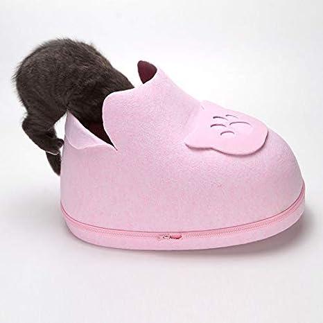 MonsterKill MK Cat Cama Caliente/Cama de Fieltro como Zapatos para Gato Perrito, Cama