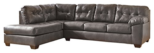 Ashley Furniture Signature Design - Alliston 2-Piece Sectional - Right Arm Facing Sofa & Left Arm Facing Corner Chaise - Gray