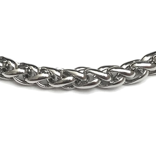 Dog Tag Surplus Stainless Steel Wheat Chain Jewelry 3MM 24