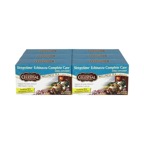Celestial Seasonings Wellness Tea - Echinacea Complete Care - Caffeine Free - 20 Bags (Pack of 3)