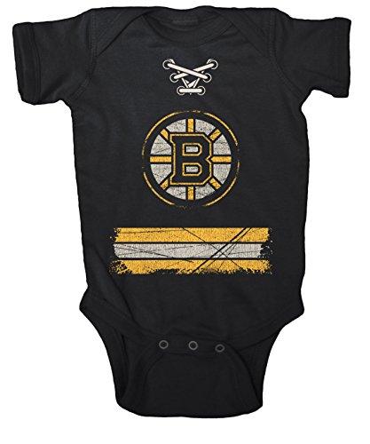 NHL Boston Bruins Beeler Vintage Infant Jersey Creeper, 12-Months, Black
