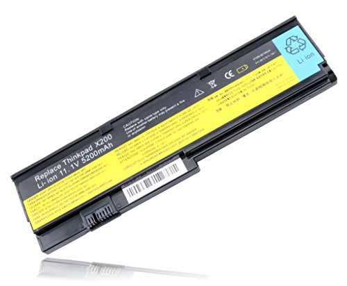 T4535 42T4543 42T4650 42T4834 42T4835 New Laptop Battery For Lenovo Ibm Thinkpad X200 X200s X201 X201i 43R9254 43R9255 ()
