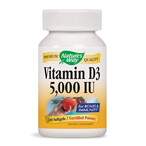 (Nature's Way Vitamin D3 5,000 IU (Packaging May Vary))